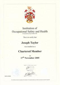IOSH Chartered Member